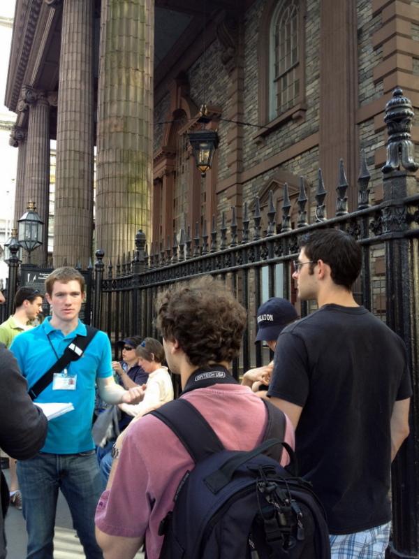 Ray describes the oldest public building on Manhattan, St. Paul's Chapel, built 1766