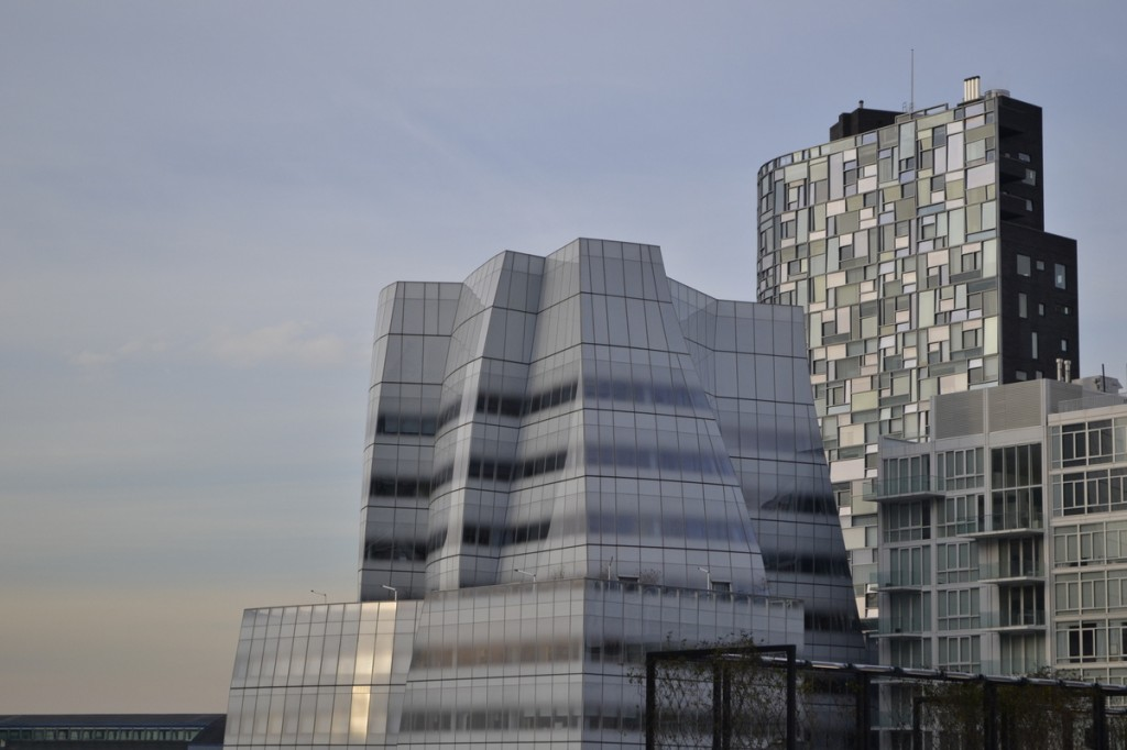 "Frank Gehry's IAC building...playfully known as ""the Iceberg"""