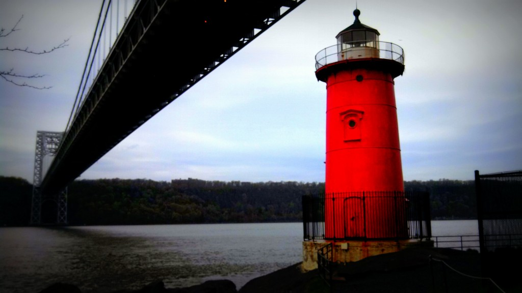 The Little Red Lighthouse and the Great Gray Bridge as seen in the famous children's story