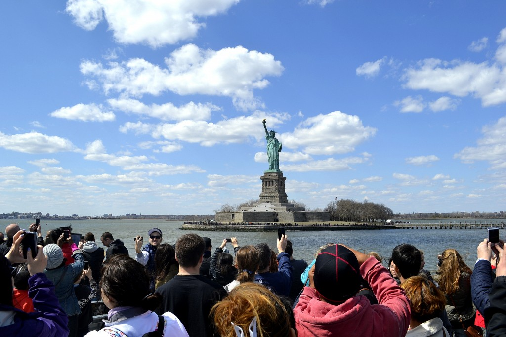 As we approached Liberty Island, the air hummed with excitement.