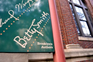 Betty Smith's signature can be found in front of every Brooklyn Public Library, along with 4 other Brooklyn Authors