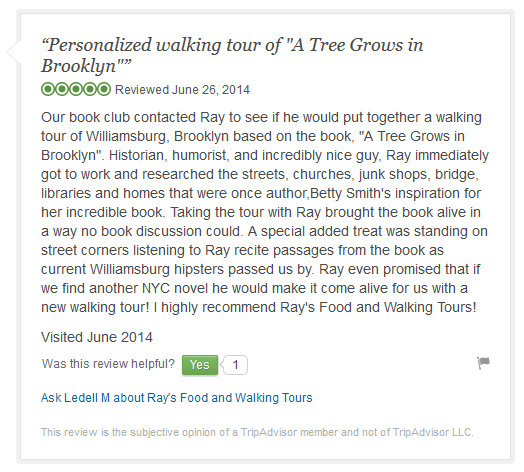 TripAdvisor a tree grows review