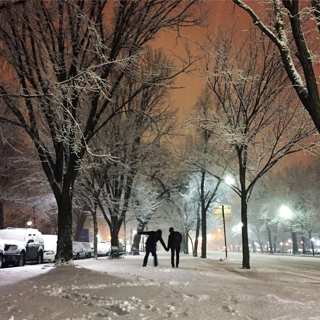 Eastern Parkway in Winter