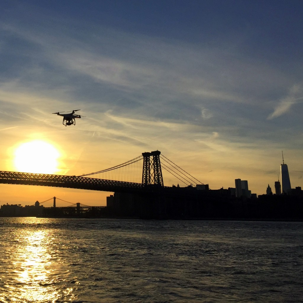 Williamsburg Drone Sunset